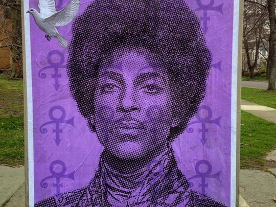 Rochester artist Mike Dellaria commemorated the career of Prince following the death of the musical icon in April.
