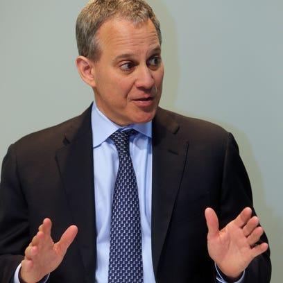 New York State Attorney General Eric Schneiderman speaking