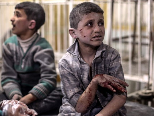 EPA SYRIA DOUMA CONFLICT AIRSTRIKES VICTIMS WAR CONFLICTS (GENERAL) WAR SYR OU