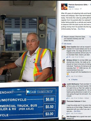 Florida residents and visitors shared support for Samsonov on Facebook after learning about his termination.