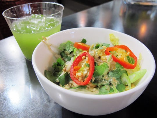 The pad Thai noodle bowl is one of three fusion entree bowls Delicious Raw recently introduced.