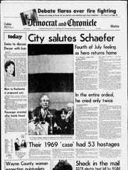 Feb., 4, 1981, front page of the Democrat and Chronicle.