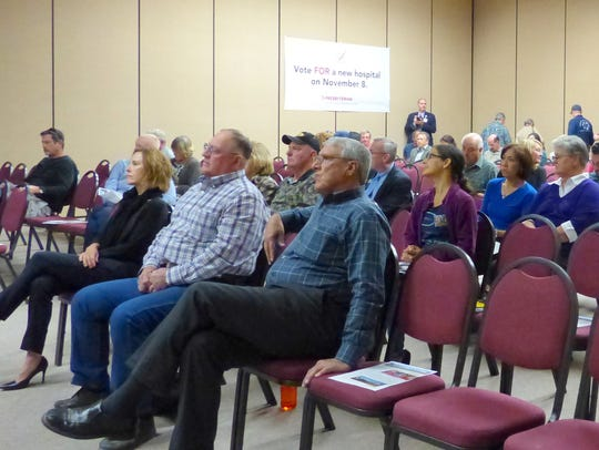 The audience at the meeting on the bond issue for a