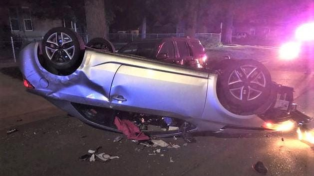 Although the female driver and a child escaped serious injuries in an alcohol-related rollover crash Saturday, the driver was arrested on a host of charges related to the crash.