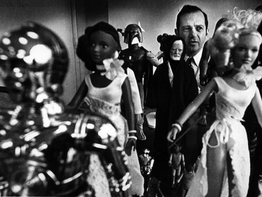 MARCH 11, 1979: Kenner Toy Co. president Joe Mendelsohn poses with some of his company's new toys.
