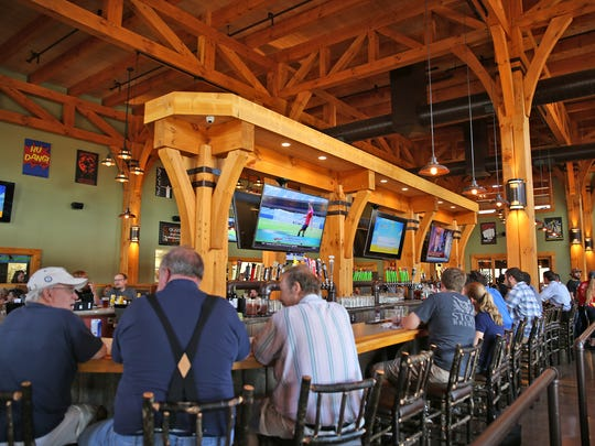 The lunch crowd filled Big Woods Speedway on Main Street on Wednesday, July 20, 2016. The restaurant opened this year.