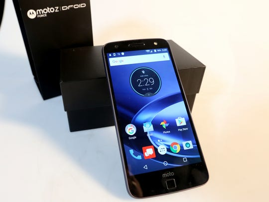 The Moto Z Force Droid is one of this year's best back to school technology for college students as described by Education Reporter Natalie Pate at the Statesman Journal in downtown Salem on Thursday, Sept. 8, 2016.