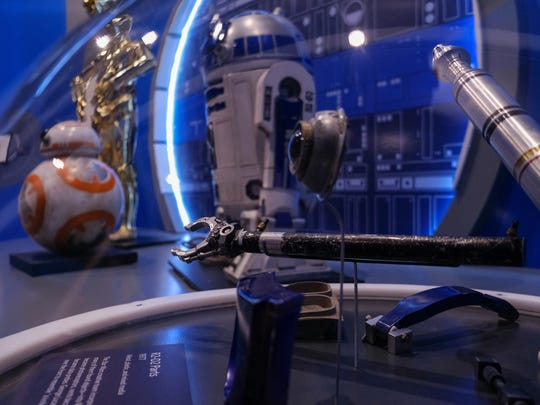 R2-D2 parts from 1977 are seen during setup for the