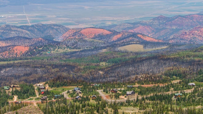 A view of Brian Head, Utah, on Friday, June 30, 2017. Residents were allowed to move back into Brian Head now that the Brian Head fire no longer threatens the town.