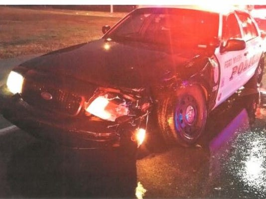 Fort Myers Police car crash