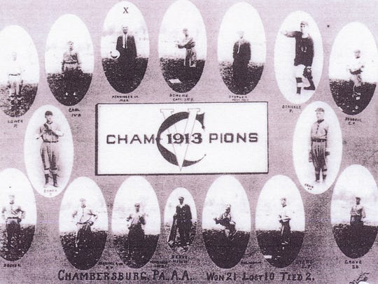 Chambersburg's Champions of 1913 Manager Clay Henninger