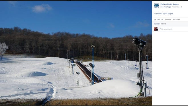 With enough snow on the ground, Perfect North Slopes opened a few trails on Monday.