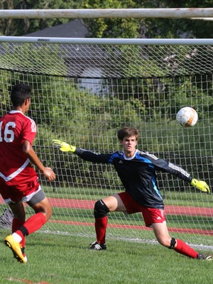 Horace Greeley defeats Fox Lane 3-2 during soccer game at Horace Greeley High school in Chappaqua on Sept. 7, 3016.