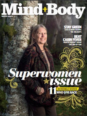 """The cover of the Mind+Body's winter issue, the """"Superwomen issue."""""""