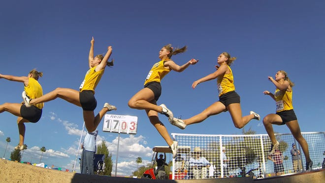 Shadow Mountain's Abigail Spencer jumped 18-11 in the long jump.