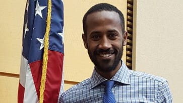 Eritrea-born Futsum Zienasellassie is a U.S. citizen, making him eligible for the Olympic track and field trials.