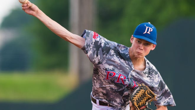 Jackson Prep pitcher Will Warren delivers against Parklane during MAIS AAAA Semi Final Baseball Playoff action held in Flowood, Mississippi May 10th, 2016.(Bob Smith-For The Clarion Ledger)