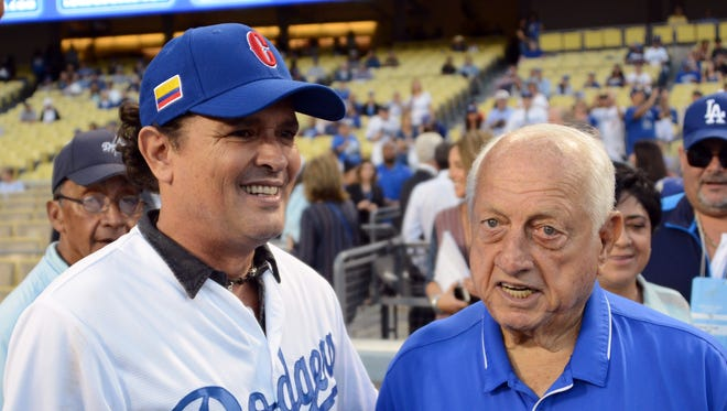 Tommy Lasorda currently serves as senior adviser to the Dodgers.