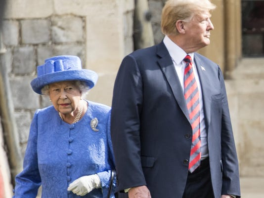 Twitter counts ways President Trump 'insulted' the queen