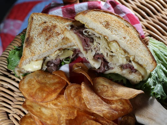 The roast beef, sauerkraut and Gruyere grilled cheese sandwich served at PICNIC. June 13, 2016