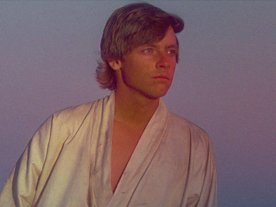 Mark Hamill as Luke Skywalker in 1977's original 'Star