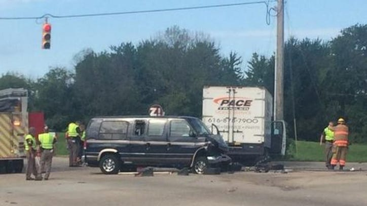 Drivers Tuesday were being detoured around the crash at business Interstate-196 in Zeeland Township.