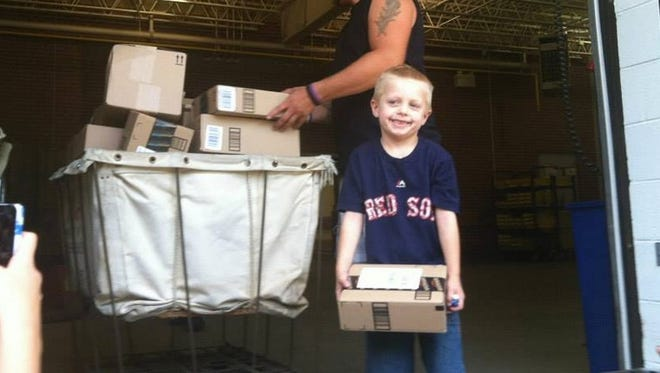 Daniel Nickerson  of Massachusetts receives birthday cards and packages.