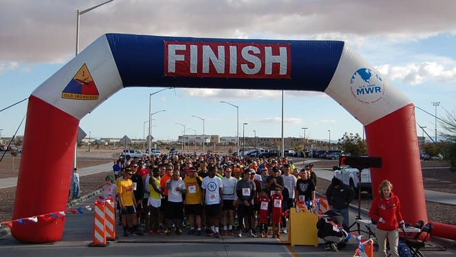 The Turkey Trot at Fort Bliss is Saturday. It is one of many events scheduled from now to the end of the year.