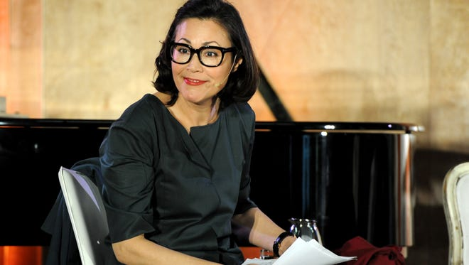 "Ann Curry attends The Lourdes Foundation ""Leadership in the 21st Century"" Event with His Holiness the 14th Dalai Lama at the California Science Center on February 26, 2014 in Los Angeles, California."