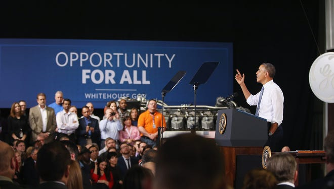 President Obama in Waukesha, Wis., on Thursday.