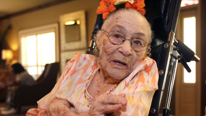 Gertrude Weaver is the second-oldest person in the world and also is America's oldest person.
