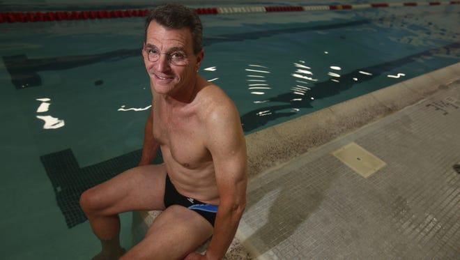 Roger Kahn, 58, of New Rochelle will be swimming in the 50-meter freestyle and the 50-meter butterfly at the U.S. Masters Swimming Summer National Championship in August at the University of Maryland.