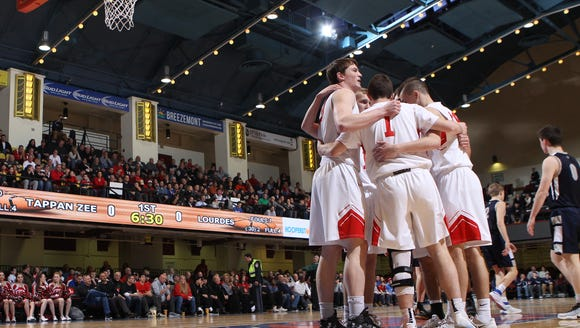 After meetings with athletic directors this week, the schools in Section 1 have united and will host their semifinal boys and girls basketball games at the Westchester County Center, returning a portion of the tournament to the arena has has hosted high school basketball playoffs since 1933.