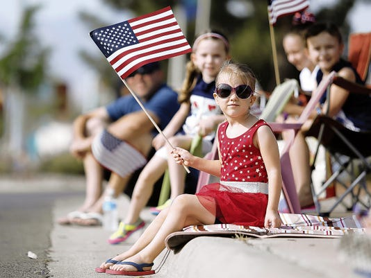 Bronwyn Wilchek, 4, is ready for the Rotary Club of West El Paso Fourth of July Parade on Saturday.