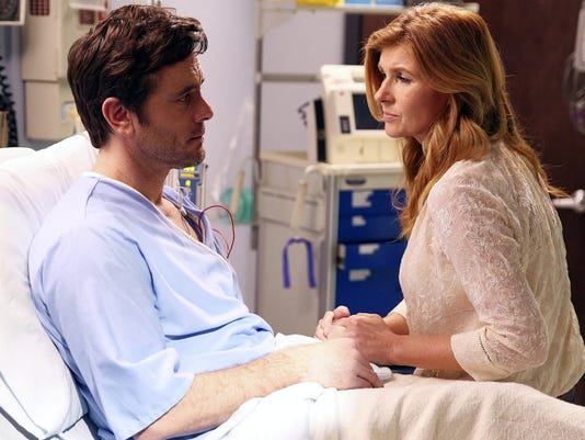 "Charles Esten and Connie Britton in ""Nashville."" The country music drama will be back on ABC at 10 p.m. Sept. 23."