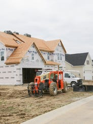 A new home is constructed in the Ryan Homes Sanctuary