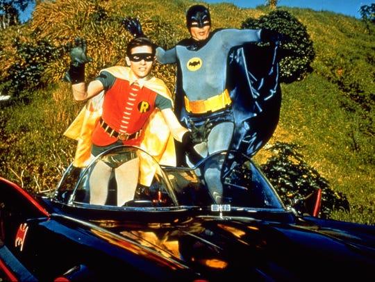 Batman (Adam West), right, and Robin (Burt Ward) POWnced