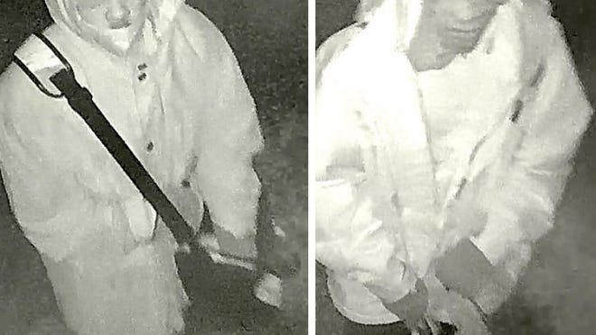 The Bastrop Police Department is asking for the public's help identifying two persons of interest in a burglary at Crosshairs Texas on Monday.