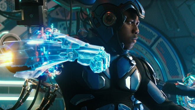"""John Boyega pilots the Jaeger called Gipsy Avenger in """"Pacific Rim Uprising."""""""