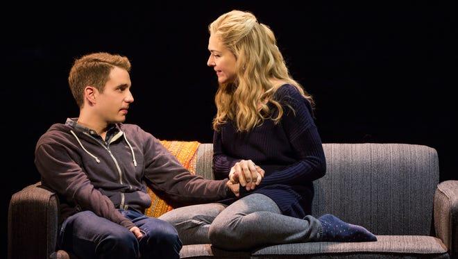 Ben Platt and Rachel Bay Jones perform in 'Dear Evan Hansen'.
