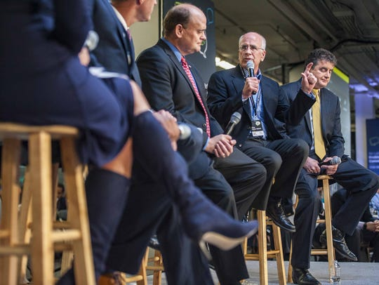 Rep. Peter Welch, D-Vermont, speaks during a panel