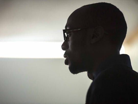 Listening: Gideon Mensah-Commey, 30, a Ghanian exchange