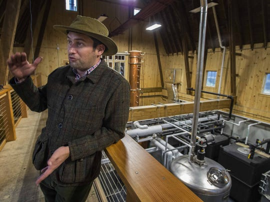 Raj Bhakta has renovated a 100-year-old barn in Shoreham, transforming it into a distillery for WhistlePig rye whiskey. Seen on Wednesday, October 28, 2015.