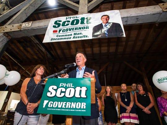 Republican gubernatorial candidate Lt. Gov. Phil Scott,