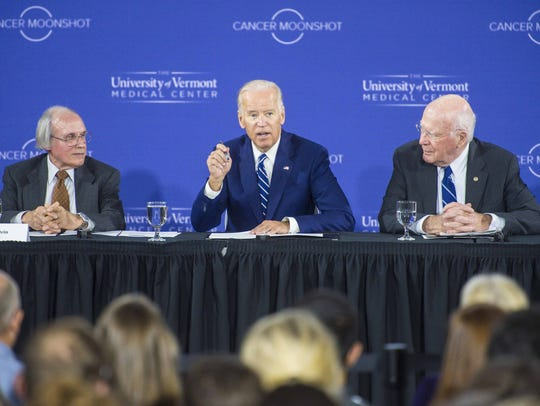Vice -President Joe Biden speaks during a Cancer Moonshot