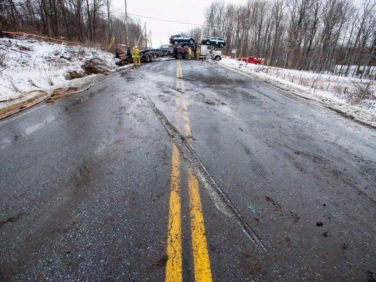 Route 7 in Charlotte was closed in both directions