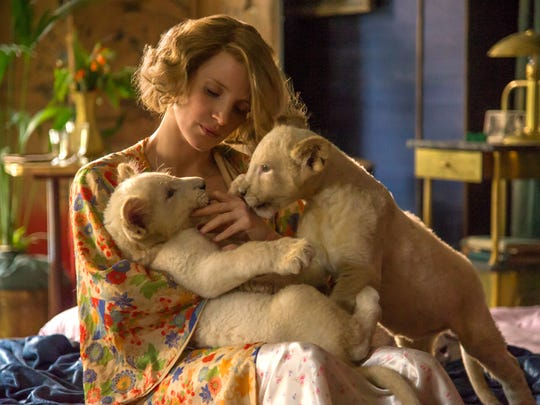 Jessica Chastain has a way with animals, starring as Antonina Zabinski in the World War II drama 'The Zookeeper's Wife.'