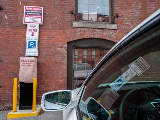 A Unified Parking Partners parking lot on Main Street in Burlington on Tuesday, February 28, 2017.
