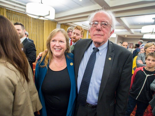 U.S. Senator Bernie Sanders, I-Vt., and his wife, Jane
