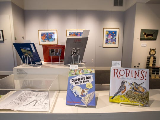"""""""Draw me at Story - Tell me a Tale,"""" an exhibition of Vermont children's books authors and illustrators at the Henry Sheldon Museum in Middlebury, is seen on Friday, August 25, 2017."""